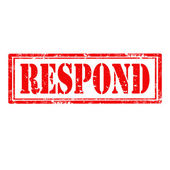 Respond-stamp — Stock Vector