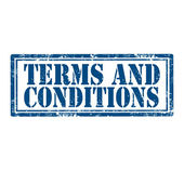 Terms And Conditions-stamp — Stock Vector