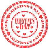 Valentine's Day-stamp — Vetorial Stock