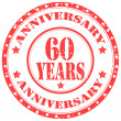 Anniversary-60 Years — Stock Vector