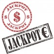 Stock Vector: Jackpot-stamps
