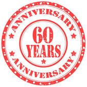 Anniversary-60 Years — Stock Vector