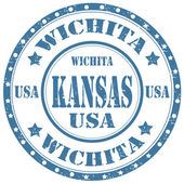 Wichita-Kansas — Stock Vector