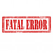 Stock Vector: Fatal Error-stamp