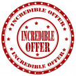 ストックベクタ: Incredible Offer-stamp