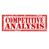Competitive Analysis-stamp — Stock Vector