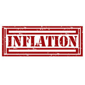 Inflation-stamp — Stock Vector