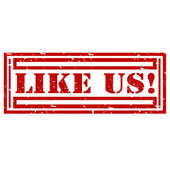 Like Us-stamp — Vector de stock