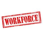 Workforce-stamp — Stock Vector