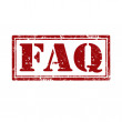 FAQ-stamp — Stock Vector