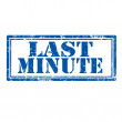 Last Minute-stamp — Stock Vector