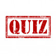 Stock Vector: Quiz-stamp