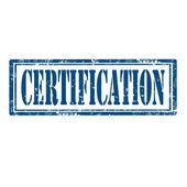 Certification-stamp — Stock Vector