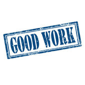 Good Work-stamp — Stock Vector