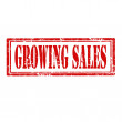 Stock Vector: Growing Sales-stamp