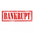 Stock Vector: Bankrupt-stamp