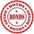 Stock Vector: Bonds-stamp