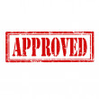 Approved-stamp — Stock Vector #41375975