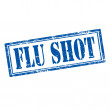 Flu Shot-stamp — Stock Vector