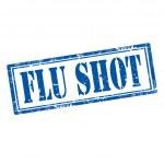 Flu Shot-stamp — Stock Vector