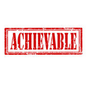 Achievable-stamp — Stock Vector