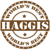 Haggis-label — Stock Vector