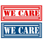 We Care-labels — Stock Vector