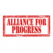 Stock Vector: Alliance For Progress-stamp
