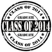 Class Of 2014-stamp — Stock Vector