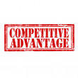 Stock Vector: Competitive Advantage-stamp