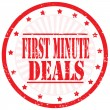 Vector de stock : First Minute Deals-stamp