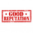 Stock Vector: Good Reputation-stamp