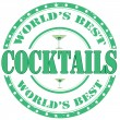 Cocktails-stamp — Stok Vektör
