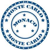 Monte Carlo-stamp — Stock Vector
