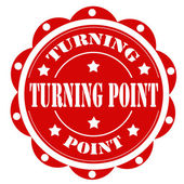 Turning Point-label — Stock Vector