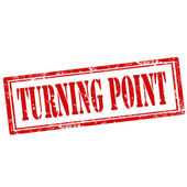 Turning Point-stamp — Stock Vector