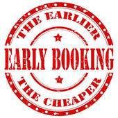 Early Booking-stamp — Stock Vector