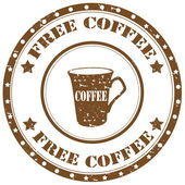 Free Coffee-stamp — Stock Vector