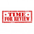 Time For Review-stamp — Stock Vector