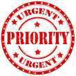 Stock Vector: Urgent priority stamp