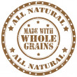 Stock Vector: Made with Whole Grains-stamp