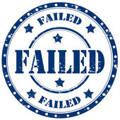 Failed-stamp — Stock Vector
