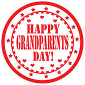Happy Grandparents Day-label — Stock Vector