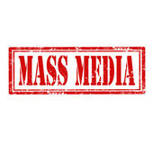 Mass Media-stamp — Stock Vector