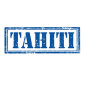 Tahiti-stamp — Stock Vector