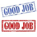 Good Job-stamps — Stock Vector