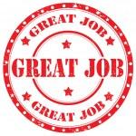 Great Job-stamp — Stockvektor
