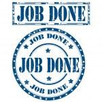 Job Done-stamps — Stockvektor