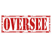 Oversee-stamp — Stock Vector
