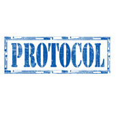 Protocol-stamp — Stock Vector